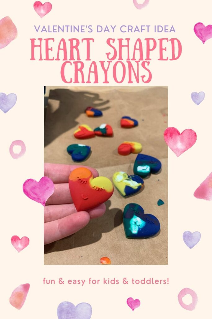 how to make heart shaped crayons for valentines day pinterest image