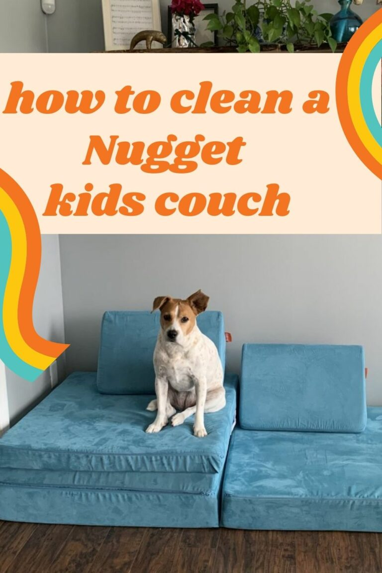 How to clean a Nugget couch - Celebrating with kids