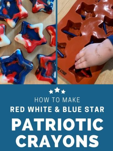 how to make red white and blue star patriotic crayons