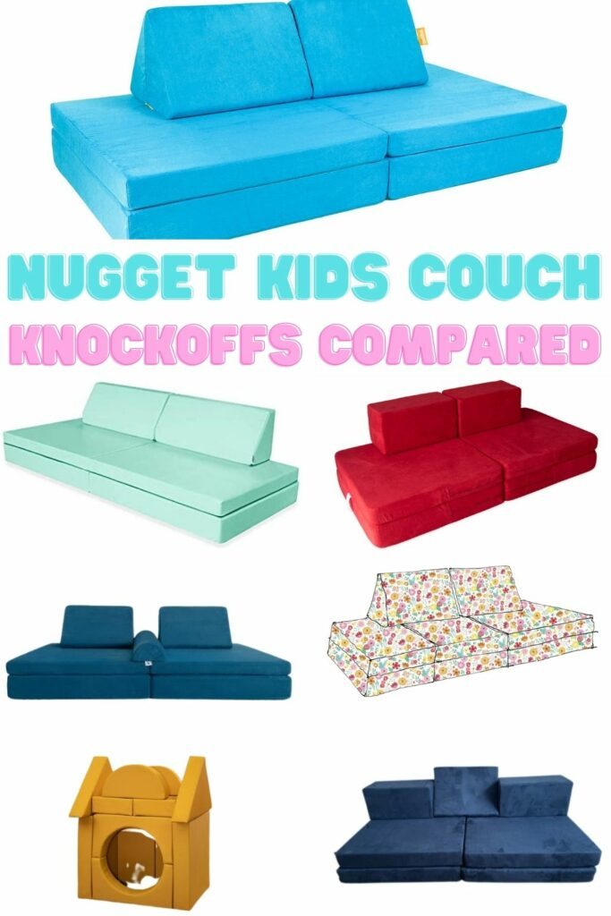 nugget kids couch knock offs compared