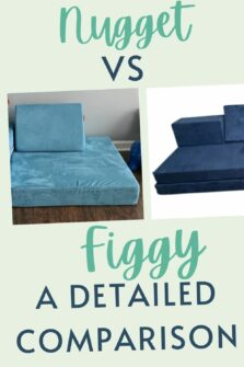 Nugget Couch vs Figgy - Celebrating with kids