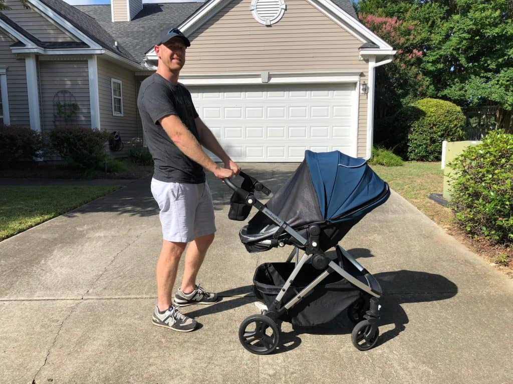 pushing mockingbird stroller