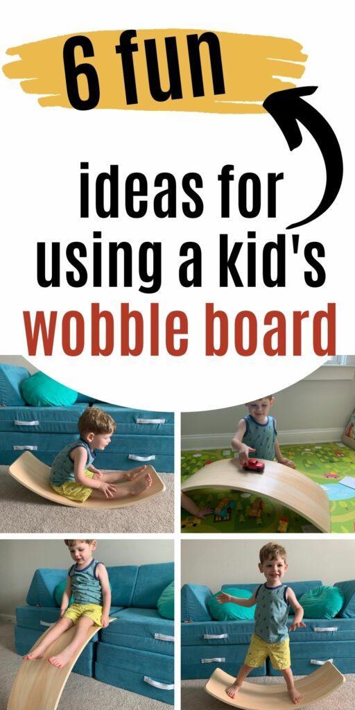 6 fun ideas for using a kids wobble board balance board