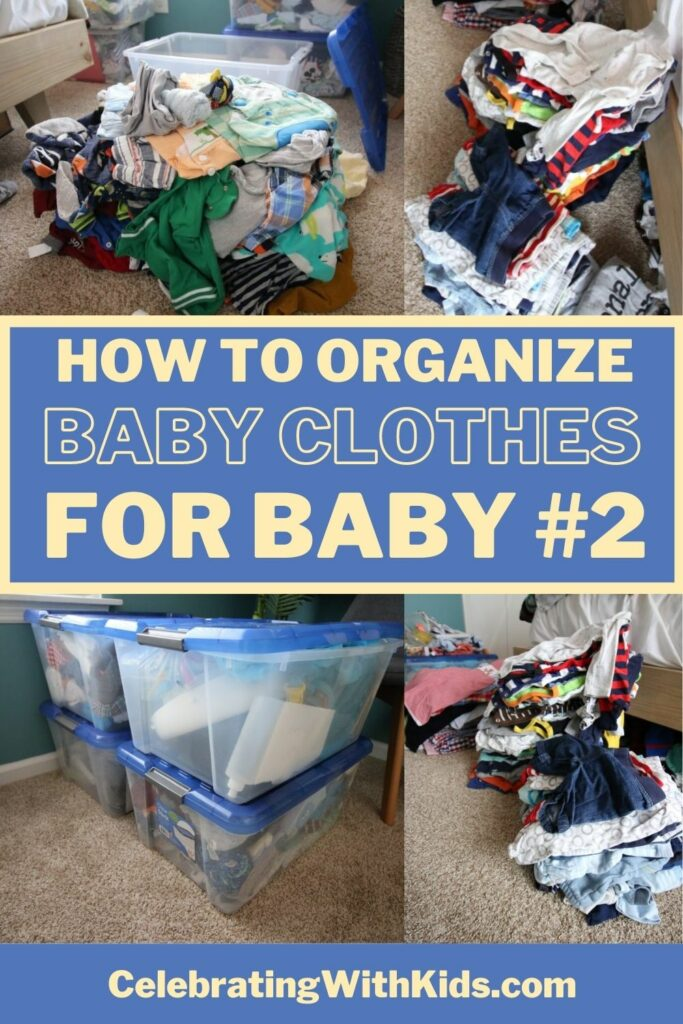 how to organize and purge baby clothes for baby number 2