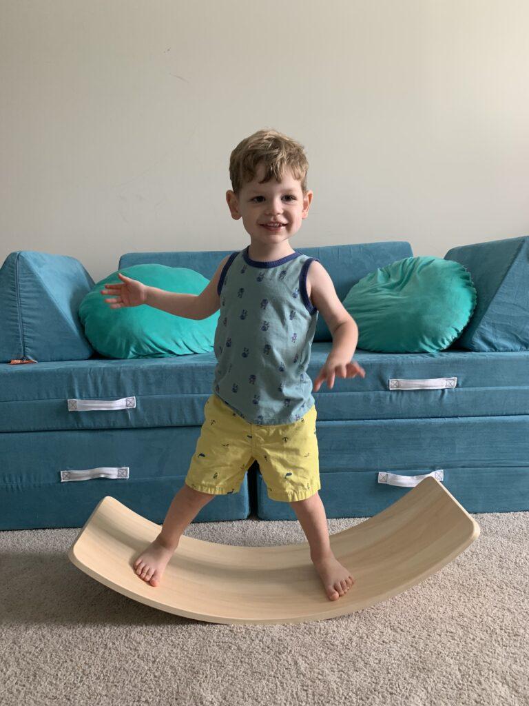 how to use a wobble board balance board