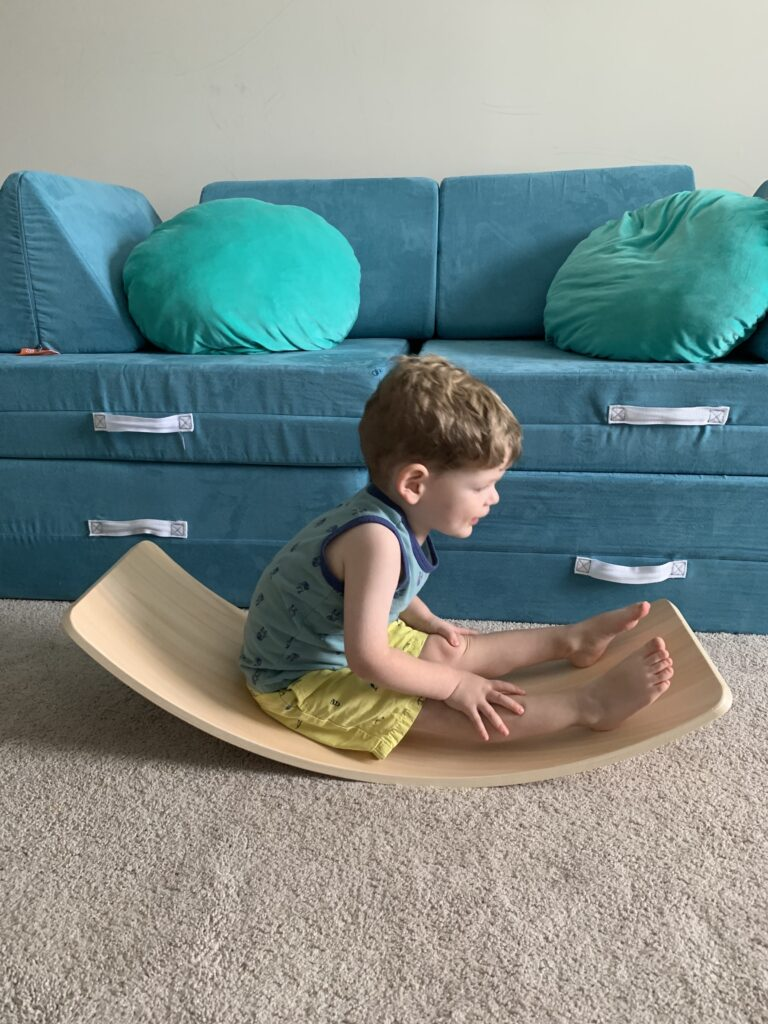 how to use a wobble board as a rocker