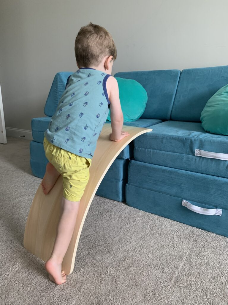 how to use a wobble board as a ramp