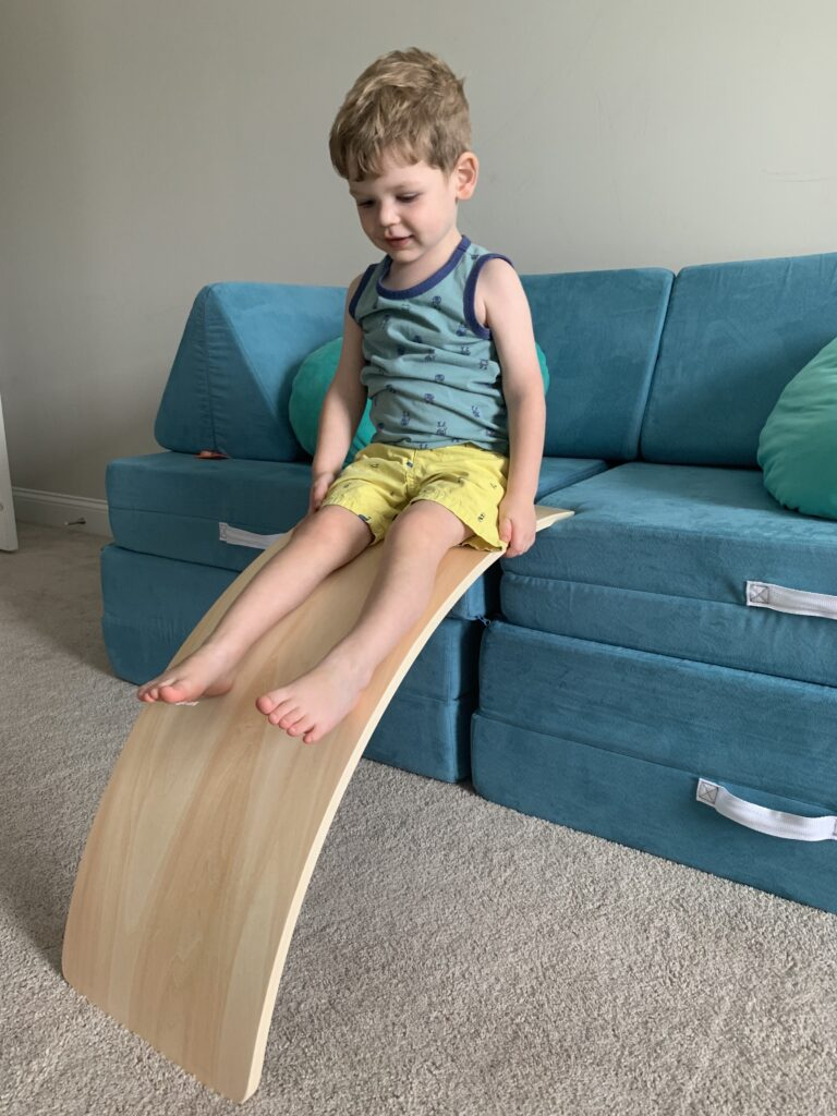 how to use a wobble board as a slide