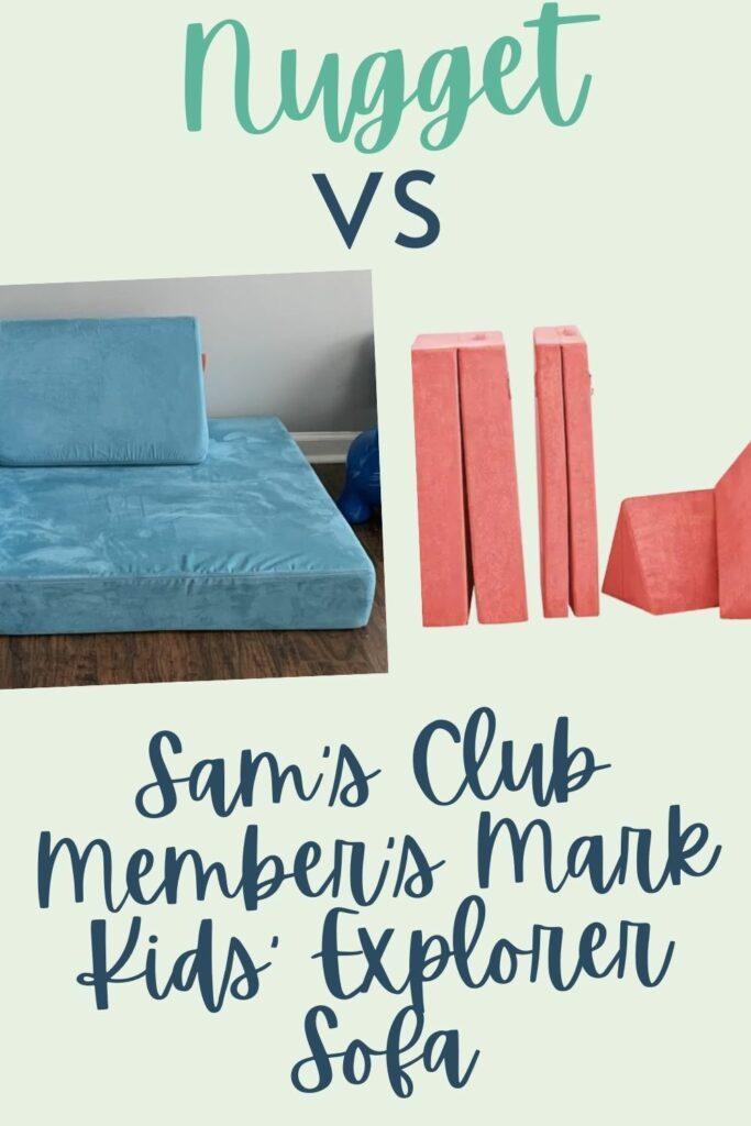 Nugget vs Sam's Club Member's Mark Kids' Explorer Sofa comparison