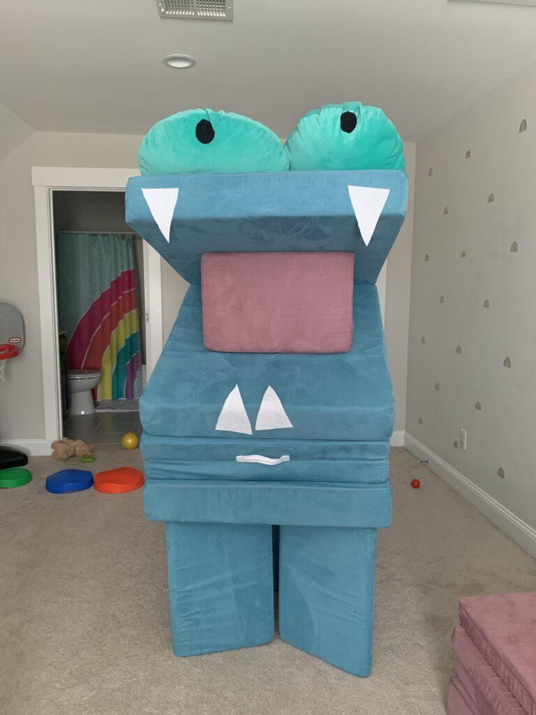 Nugget monster, dinosaur, dragon