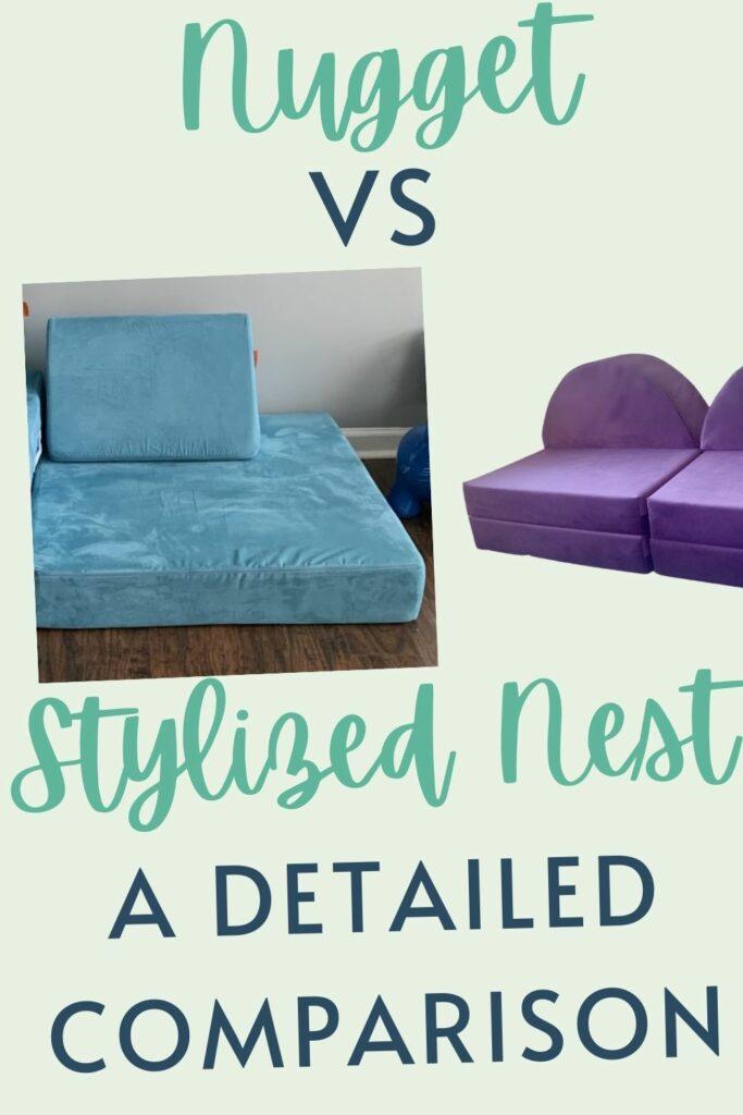 Nugget vs stylized nest couch comparison