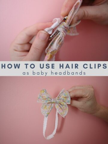 how to use hair clips as baby headbands