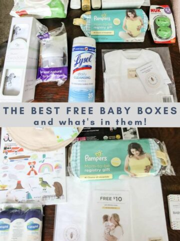 the best free baby boxes and what's in them